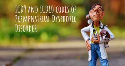 ICD9 and ICD10 codes of Premenstrual Dysphoric Disorder