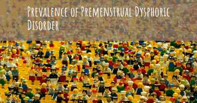 Prevalence of Premenstrual Dysphoric Disorder