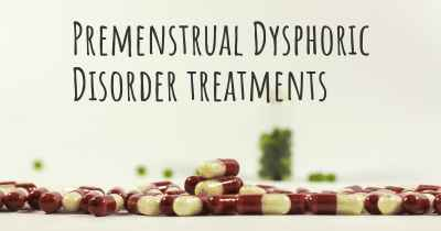 Premenstrual Dysphoric Disorder treatments