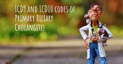ICD9 and ICD10 codes of Primary Biliary Cholangitis