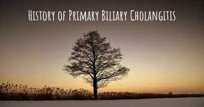 History of Primary Biliary Cholangitis