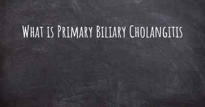 What is Primary Biliary Cholangitis