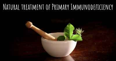 Natural treatment of Primary Immunodeficiency