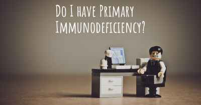 Do I have Primary Immunodeficiency?