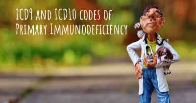 ICD9 and ICD10 codes of Primary Immunodeficiency