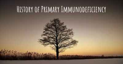 History of Primary Immunodeficiency