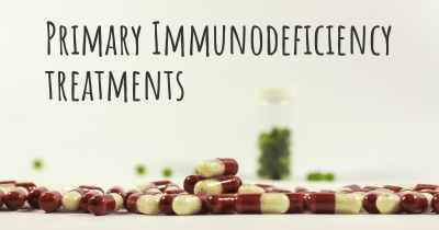 Primary Immunodeficiency treatments