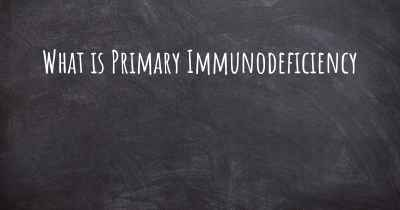 What is Primary Immunodeficiency