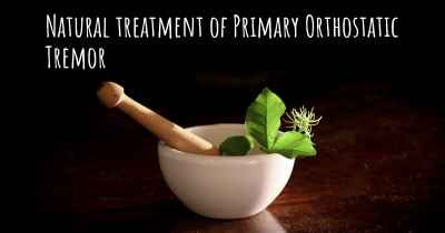 Natural treatment of Primary Orthostatic Tremor