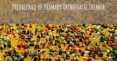 Prevalence of Primary Orthostatic Tremor