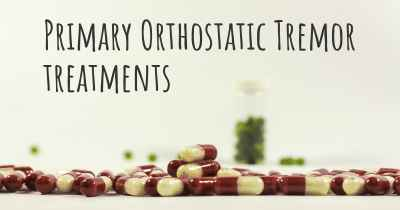 Primary Orthostatic Tremor treatments