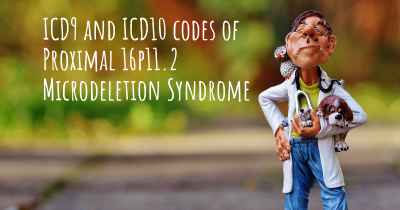 ICD9 and ICD10 codes of Proximal 16p11.2 Microdeletion Syndrome