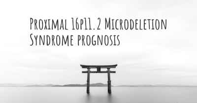 Proximal 16p11.2 Microdeletion Syndrome prognosis