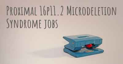 Proximal 16p11.2 Microdeletion Syndrome jobs