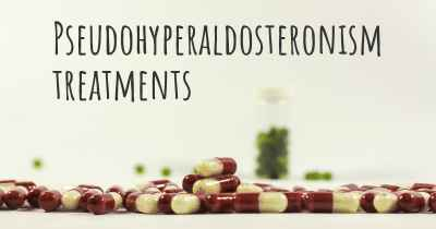 Pseudohyperaldosteronism treatments