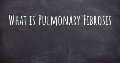 What is Pulmonary Fibrosis