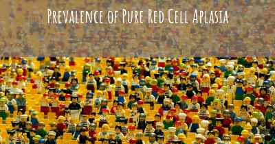 Prevalence of Pure Red Cell Aplasia