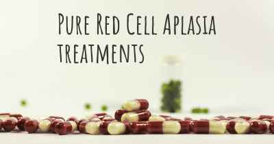 Pure Red Cell Aplasia treatments