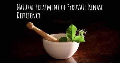 Natural treatment of Pyruvate Kinase Deficiency