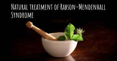 Natural treatment of Rabson-Mendenhall Syndrome