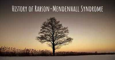 History of Rabson-Mendenhall Syndrome
