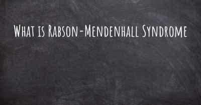 What is Rabson-Mendenhall Syndrome