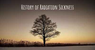 History of Radiation Sickness