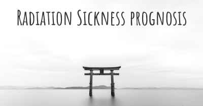 Radiation Sickness prognosis