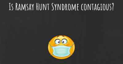 Is Ramsay Hunt Syndrome contagious?
