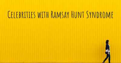 Celebrities with Ramsay Hunt Syndrome