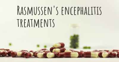 Rasmussen's encephalitis treatments