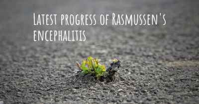 Latest progress of Rasmussen's encephalitis