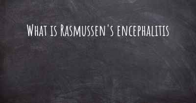 What is Rasmussen's encephalitis