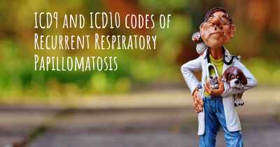 ICD9 and ICD10 codes of Recurrent Respiratory Papillomatosis