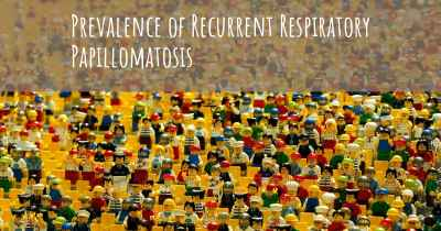 Prevalence of Recurrent Respiratory Papillomatosis
