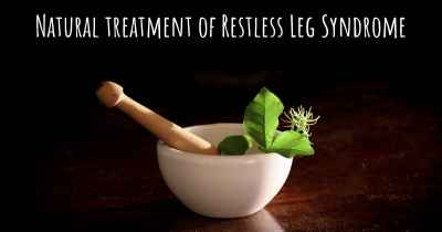 Natural treatment of Restless Leg Syndrome