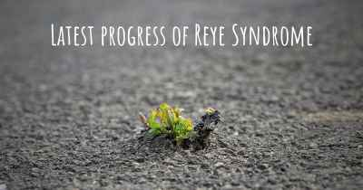 Latest progress of Reye Syndrome