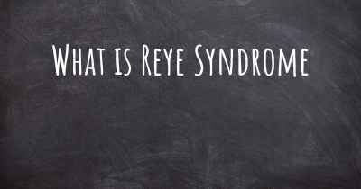 What is Reye Syndrome