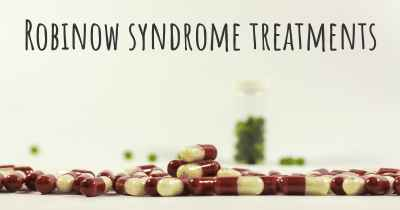 Robinow syndrome treatments