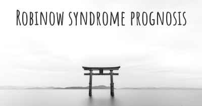 Robinow syndrome prognosis