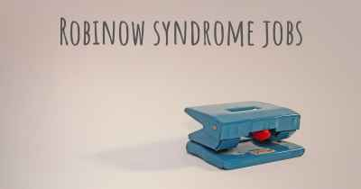 Robinow syndrome jobs