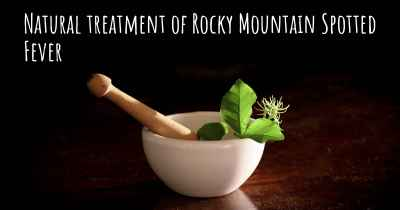 Natural treatment of Rocky Mountain Spotted Fever