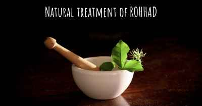 Natural treatment of ROHHAD