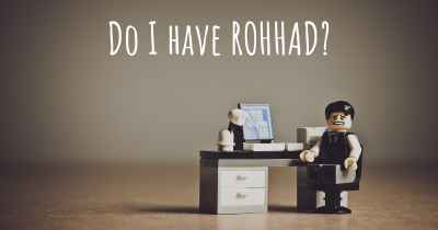 Do I have ROHHAD?