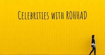 Celebrities with ROHHAD