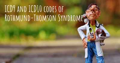 ICD9 and ICD10 codes of Rothmund-Thomson Syndrome