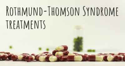 Rothmund-Thomson Syndrome treatments
