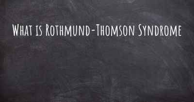What is Rothmund-Thomson Syndrome