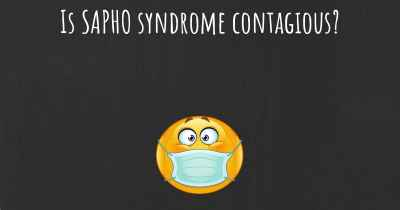 Is SAPHO syndrome contagious?
