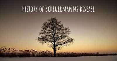 History of Scheuermanns disease
